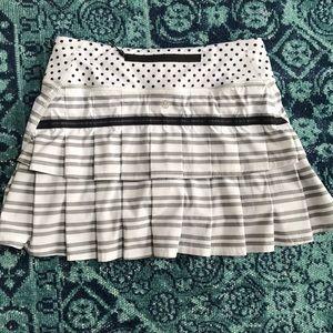 Lululemon pace setter skirt twin stripe black